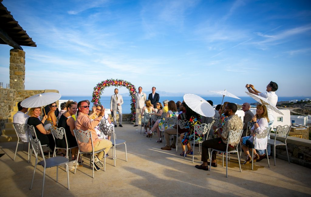 ceremony in Mykonos island