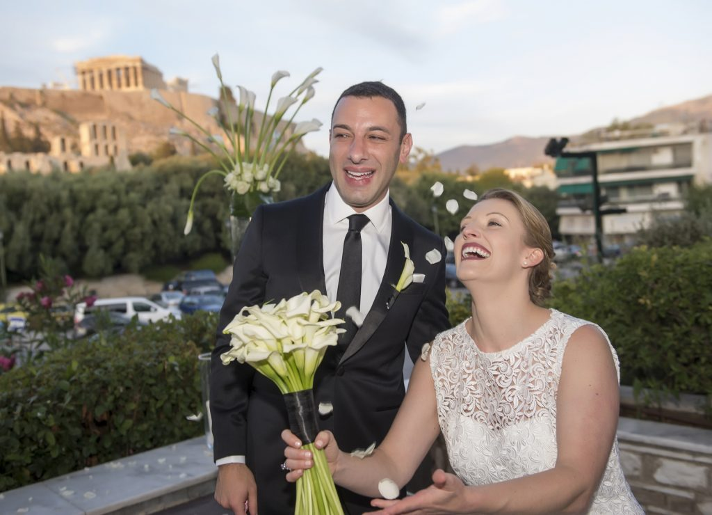 just married in Athens